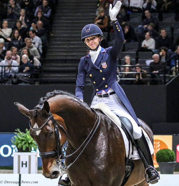 Laura Graves on Verdades at the end of the American pair's World Cup Grand Prix