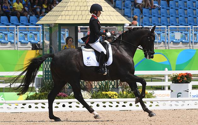 Sophie Wells' Paralympic gold medallist Valerius