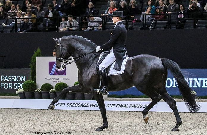Edward Gal, a World Cup champion on Totilas, riding Glock's Zonik