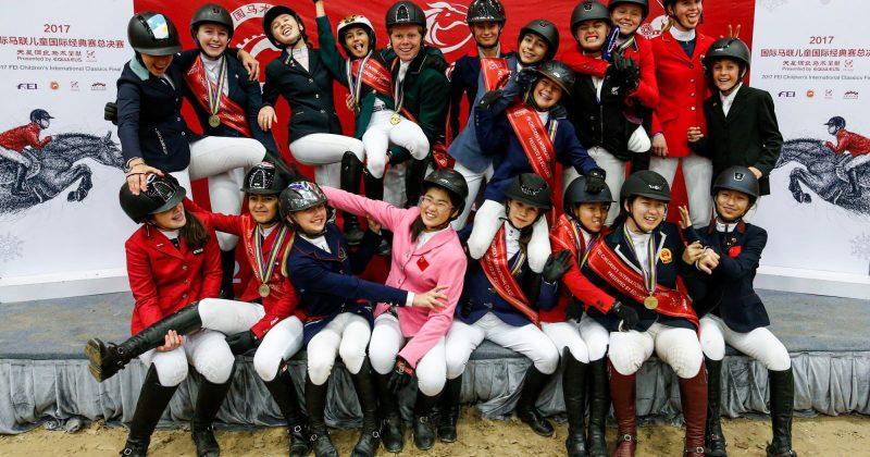 Flash de confraternização da Final FEI Children na China (Divulgação FEI)