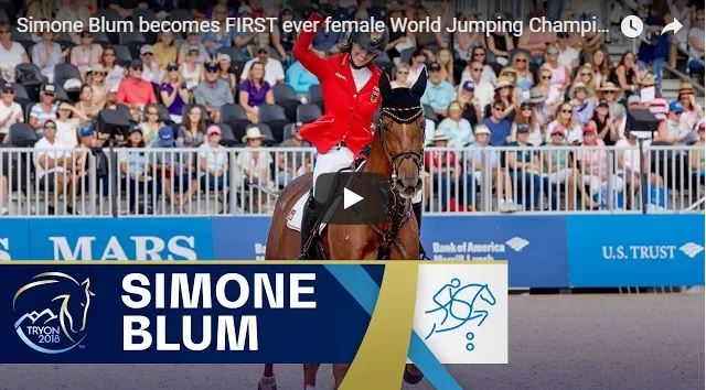 Veja o vídeo da alemã Simone Blum & DSP Alice no WEG