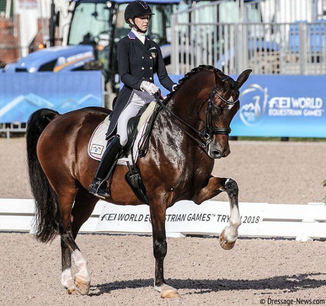 Laura Gravws e Verdades nos Jogos Equestres Mundiais em Tryon, by Ken Braddick dressage-news
