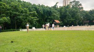 Inspeção veterinária da qualificativas pan-americanas de Adestramento em São Paulo