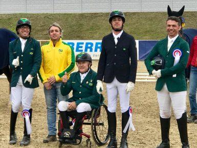 De olho em Tokyo 2020, Brasil é bronze em Internacional de Adestramento Paraequestre na Alemanha