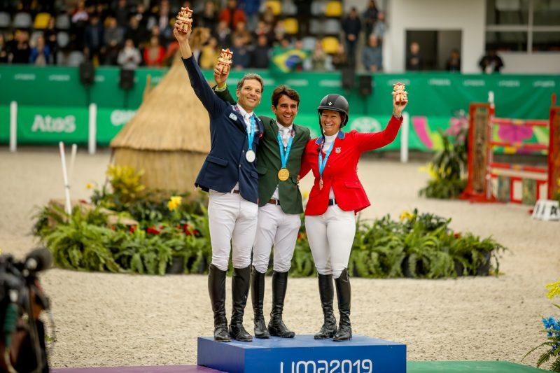 Marlon Zanotelli, ouro, José Maria Larocca, prata, e Elizabeth Madden, bronze (CBH - Luis Ruas)