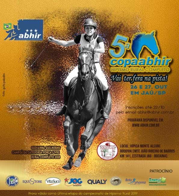 Copa Abhir de Hipismo Rural Completo 26 e 27-10